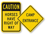 Campground Traffic Warning Signs