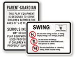 Equipment Rules Signs