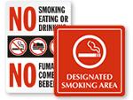 Playground No Smoking Signs