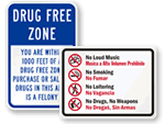 Pictogram No Drugs or Alcohol Signs