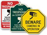 Playground Surveillance Signs