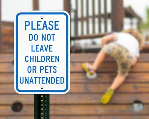 Child at Play Playground Sign