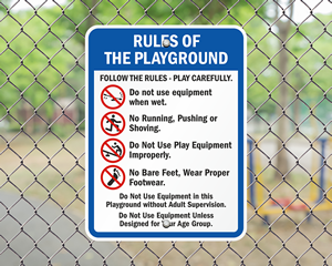 Equipment Rules Sign