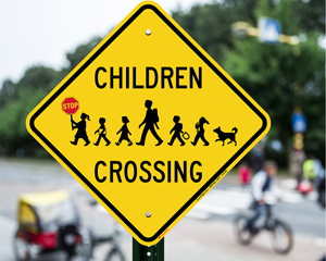 Child at Play Playground Signs