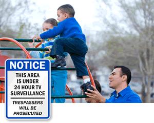 Playground Surveillance Sign