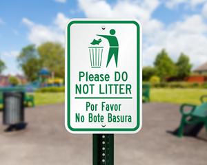 Please do not litter signs