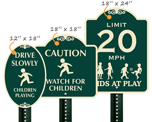 Signature™  Playground Signs Different Sizes
