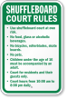Custom Shuffleboard Court Rules Sign
