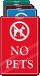 No Pets ShowCase Wall Sign