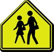 School Children Symbol - Traffic Sign