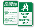 Basketball Court Signs