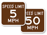 Park Speed Limit Signs