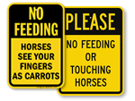 Do Not Feed Horses Signs