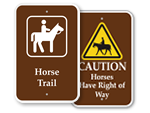 Horse Trail Signs