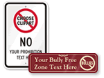 No Bullying Signs