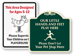 Playground Entrance Signs