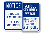 School Playground Signs