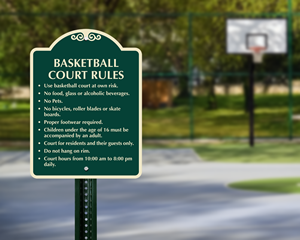 Basketball Court Sign
