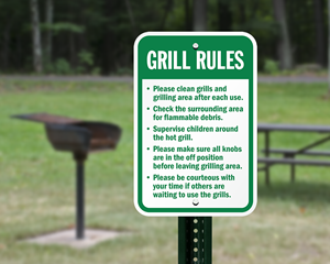 Grill Rules Sign