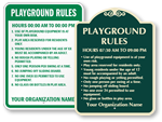Customizable Rules Signs