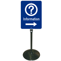 Information Sign (with Symbol) & Post Kit
