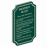 Add Custom Property Rules PermaCarve Sign