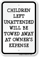 Funny Children Safety Sign