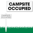 Campsite Occupied Easystake Clip On Sign