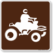 All-Terrain Vehicle Symbol Sign For Campsite