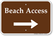 Beach Access Right Arrow Sign
