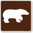 Bear Viewing Area Symbol Sign For Campsite