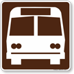 Bus Stop Symbol Sign For Campsite