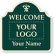 Custom Welcome Add Motif, Logo And Name Sign