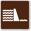 Dam Symbol Sign For Campsite