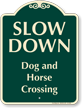 Dog And Horse Crossing Signature Sign