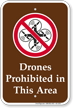 Drones Prohibited In This Area Sign