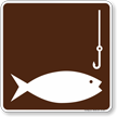 Fishing Symbol Sign For Campsite