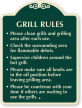 Clean Grills And Grilling Area After Use Sign
