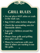 Grill Rules clean grills and grilling area sign