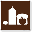 Grocery Store Symbol Sign For Campsite