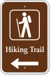 Hiking Trail Left Arrow Campground Sign with Graphic