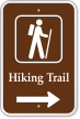 Hiking Trail Right Arrow Campground Sign with Graphic