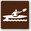 Kayak Symbol Sign For Campsite