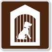 Kennel Symbol Sign For Campsite