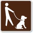 Leashed Pets Symbol Sign For Campsite
