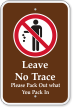 Leave No Trace Campground Sign