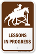Lessons In Progress Sign