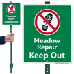 Meadow Repair Keep Out Lawnboss Sign