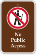 No Public Access with Graphic Campground Sign