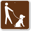 Pets Must Be On Leash Campground Sign